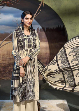 Gul Ahmed Printed Khaddar Unstitched 3 Piece Suit GA19W K-48 - Winter Collection