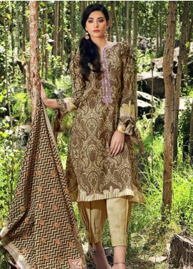 Gul Ahmed Embroidered Khaddar Unstitched 3 Piece Suit GA19W K-49 - Winter Collection