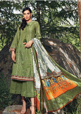Gul Ahmed Embroidered Khaddar Unstitched 3 Piece Suit GA19W K-52 - Winter Collection