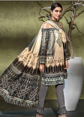 Gul Ahmed Printed Khaddar Unstitched 3 Piece Suit GA19W K-73 - Winter Collection