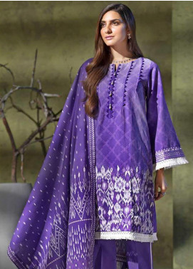 Gul Ahmed Embroidered Khaddar Unstitched 3 Piece Suit GA19W K-78 - Winter Collection