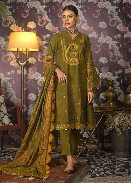 Gul Ahmed Embroidered Khaddar Unstitched 3 Piece Suit GA19W K-82 - Winter Collection