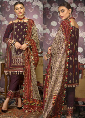 Gul Ahmed Embroidered Khaddar Unstitched 3 Piece Suit GA19W K-84 - Winter Collection