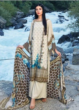 Gul Ahmed Embroidered Linen Unstitched 3 Piece Suit GA19W M-20 A - Winter Collection