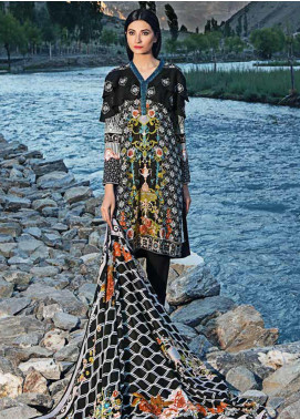 Gul Ahmed Embroidered Linen Unstitched 3 Piece Suit GA19W M-20 B - Winter Collection