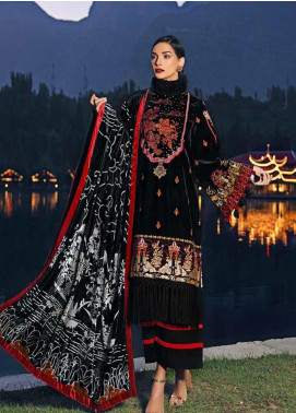 Gul Ahmed Embroidered Velvet Unstitched 3 Piece Suit GA19W MV-10 - Winter Collection