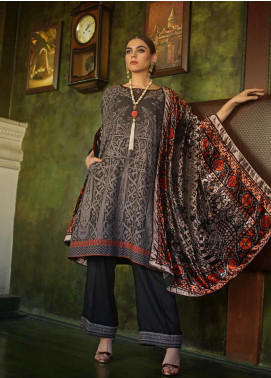 Gul Ahmed Printed Jacquard Unstitched 3 Piece Suit GA19W MV-20 - Winter Collection