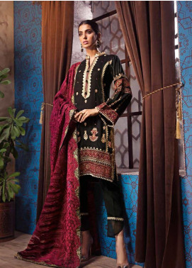 Gul Ahmed Embroidered Zari Unstitched 3 Piece Suit GA19W PM-316 - Winter Collection