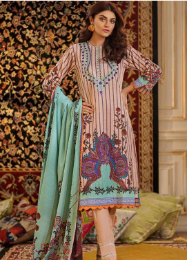 Gul Ahmed Embroidered Khaddar Unstitched 2 Piece Suit GA19W TK-24 - Winter Collection