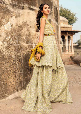 Gul Ahmed Printed Lawn Unstitched Kurties GL20VG SL-828 - Spring / Summer Collection
