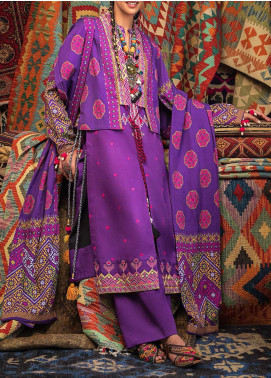 Wadi-e-Sawat by Gul Ahmed Embroidered Linen Unstitched 3 Piece Suit GA20WS LT01 - Winter Collection