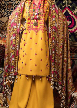 Wadi-e-Sawat by Gul Ahmed Embroidered Linen Unstitched 3 Piece Suit GA20WS LT02 - Winter Collection