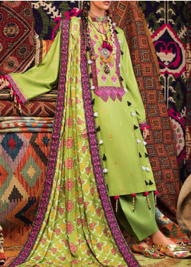 Wadi-e-Sawat by Gul Ahmed Embroidered Linen Unstitched 3 Piece Suit GA20WS LT03 - Winter Collection