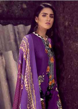 Gul Ahmed Embroidered Pashmina Unstitched 3 Piece Suit GA18W PSM05 - Winter Collection