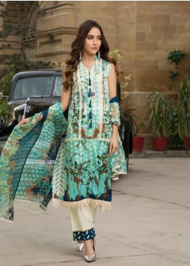 Gul Mohar Printed Lawn Unstitched 3 Piece Suit GM19L 4A - Festive Collection