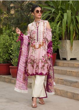 Gul Mohar Printed Lawn Unstitched 3 Piece Suit GM19L 4B - Festive Collection