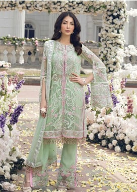 Gulaal Embroidered Chiffon Unstitched 3 Piece Suit GL19E 08 SUMMER BREEZE - Eid Collection