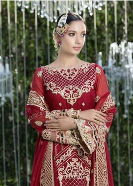 Gulaal Embroidered Chiffon Unstitched 3 Piece Suit GL18W 03 - Wedding Collection