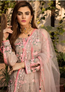 Gulaal Embroidered Chiffon Unstitched 3 Piece Suit GL18-W2 04 - Wedding Collection