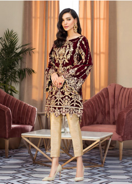 Gulaal Embroidered Velvet Unstitched 2 Piece Suit GL19V 06 ROSITA - Wedding Collection
