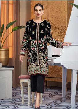 Gulaal Embroidered Velvet Unstitched 2 Piece Suit GL19V 08 BOTANICA - Wedding Collection