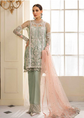 Gulaal Embroidered Zari Net Unstitched 3 Piece Suit GL19F 02 JOLIE - Luxury Collection