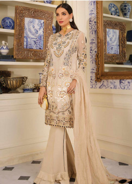 Gulaal Embroidered Chiffon Unstitched 3 Piece Suit GL19F 06 VIELLISSEMENT - Luxury Collection