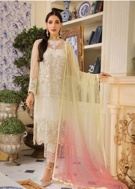 Gulaal Embroidered Zari Net Unstitched 3 Piece Suit GL19F 08 DELAVEE - Luxury Collection