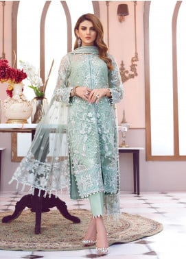 Gulaal Embroidered Zari Net Unstitched 3 Piece Suit GL19-LF2 2 MER - Luxury Collection