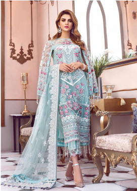 Gulaal Embroidered Zari Net Unstitched 3 Piece Suit GL19-LF2 7 FLEUR - Luxury Collection