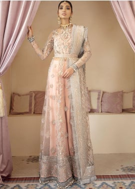 Gulaal Embroidered Net Unstitched 3 Piece Suit GL20WD 01 Mahnoosh - Wedding Collection