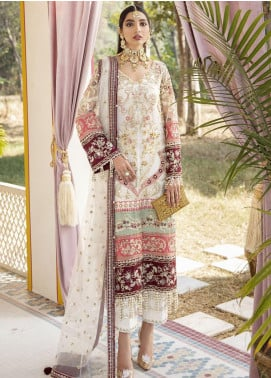 Gulaal Embroidered Net Unstitched 3 Piece Suit GL20WD 02 Mehrunnisa - Wedding Collection