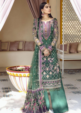 Gulaal Embroidered Net Unstitched 3 Piece Suit GL20WD 03 Ghazal - Wedding Collection
