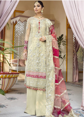 Gulaal Embroidered Net Unstitched 3 Piece Suit GL20WD 04 Kehkshan - Wedding Collection