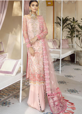Gulaal Embroidered Net Unstitched 3 Piece Suit GL20WD 07 Salima - Wedding Collection