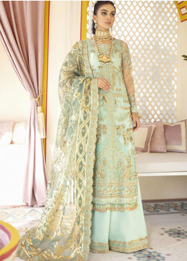 Gulaal Embroidered Net Unstitched 3 Piece Suit GL20WD 08 Qudsia - Wedding Collection