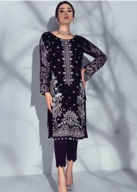 Sahiba by Gulaal Embroidered Velvet Unstitched 2 Piece Suit GL20V 04 Ecarlate - Wedding Collection
