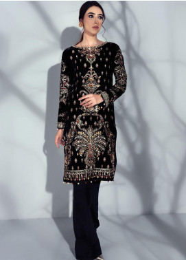 Sahiba by Gulaal Embroidered Velvet Unstitched 2 Piece Suit GL20V 05 Sirene - Wedding Collection