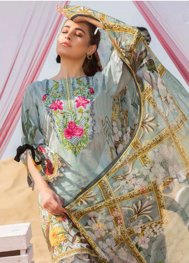 Gulkari Embroidered Lawn Unstitched 3 Piece Suit GK19L 04 - Spring / Summer Collection