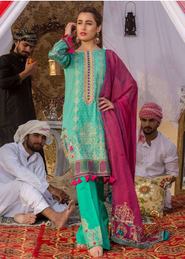 Gulkari Embroidered Lawn Unstitched 3 Piece Suit GK19L 08 - Spring / Summer Collection