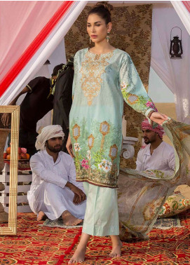 Gulkari Embroidered Lawn Unstitched 3 Piece Suit GK19L 09 - Spring / Summer Collection