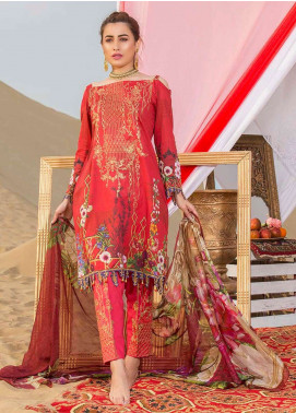 Gulkari Embroidered Lawn Unstitched 3 Piece Suit GK19L 10 - Spring / Summer Collection