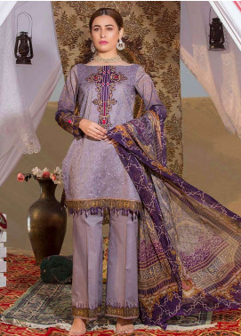 Gulkari Embroidered Lawn Unstitched 3 Piece Suit GK19L 12 - Spring / Summer Collection