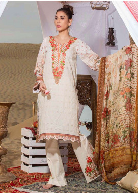 Gulkari Embroidered Lawn Unstitched 3 Piece Suit GK19L 13 - Spring / Summer Collection