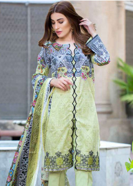 Gulkari Embroidered Lawn Unstitched 3 Piece Suit GKR19L 1A - Spring / Summer Collection