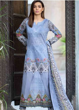 Gulkari Embroidered Lawn Unstitched 3 Piece Suit GKR19L 1B - Spring / Summer Collection