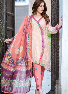 Gulkari Embroidered Lawn Unstitched 3 Piece Suit GKR19L 2B - Spring / Summer Collection