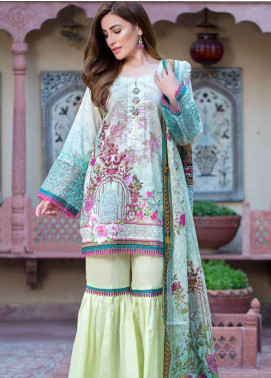 Gulkari Embroidered Lawn Unstitched 3 Piece Suit GKR19L 3A - Spring / Summer Collection