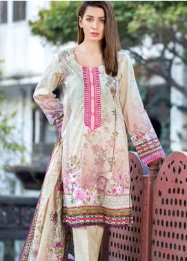 Gulkari Embroidered Lawn Unstitched 3 Piece Suit GKR19L 3B - Spring / Summer Collection