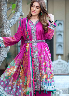 Gulkari Embroidered Lawn Unstitched 3 Piece Suit GKR19L 4A - Spring / Summer Collection